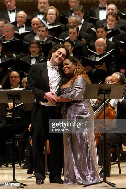 """Opera Orchestra of New York performing Francesco Cilea's """"L'Arlesiana"""" at Carnegie Hall on Wednesday night, February 21, 2007.This image;The tenor..."""