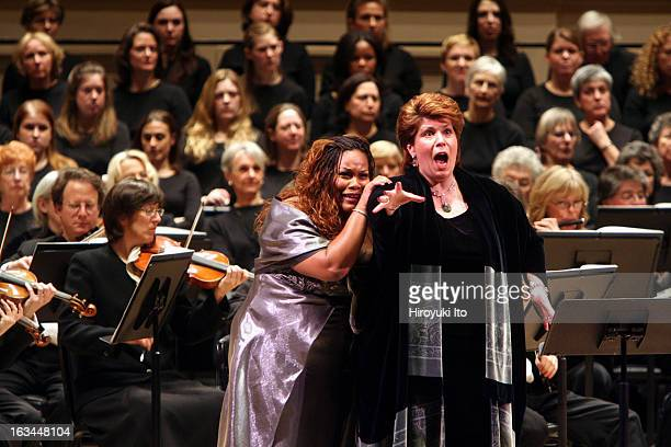 """Opera Orchestra of New York performing Francesco Cilea's """"L'Arlesiana"""" at Carnegie Hall on Wednesday night, February 21, 2007.This image;The soprano..."""