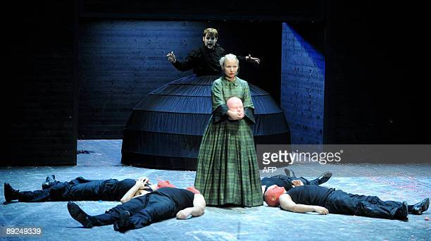 Opera performers Daniel Gloger and Stephanie Schoenfeld perform during rehearsals for the Opera 'Judith' by Friedrich Hebbel and Antonio Vivaldi...