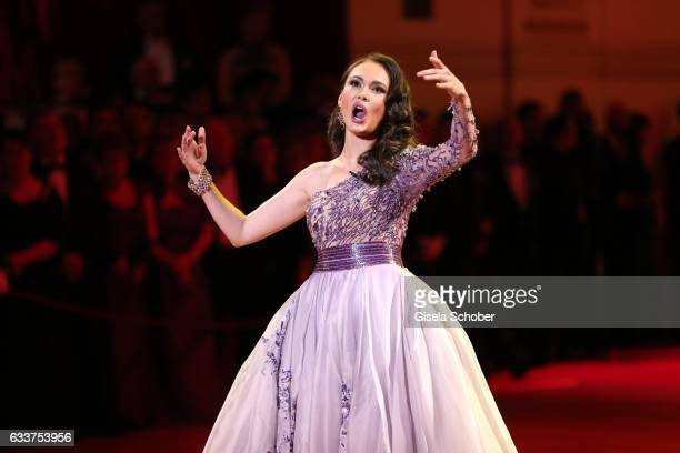 Opera singer Aida Garifullina during the Semper Opera Ball 2017 at Semperoper on February 3 2017 in Dresden Germany