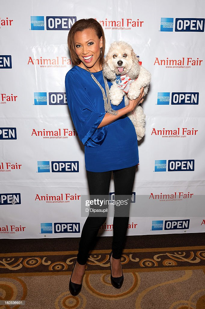 Opera singer Alyson Cambridge attends the 'Animalfair.com's Bark Business Tour Benefiting K9s For Warriors at the Omni Berkshire Place Hotel on September 30, 2013 in New York City.