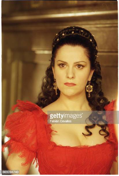 Opera singer and actress Angela Gheorghiu in Tosca a musical drama directed by Benoit Jacquot Gheorghiu stars alongside her husband and fellow...