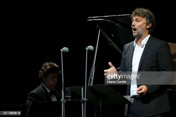 Opera singer and tenor Jonas Kaufmann performing at the San Carlo theater in Naples