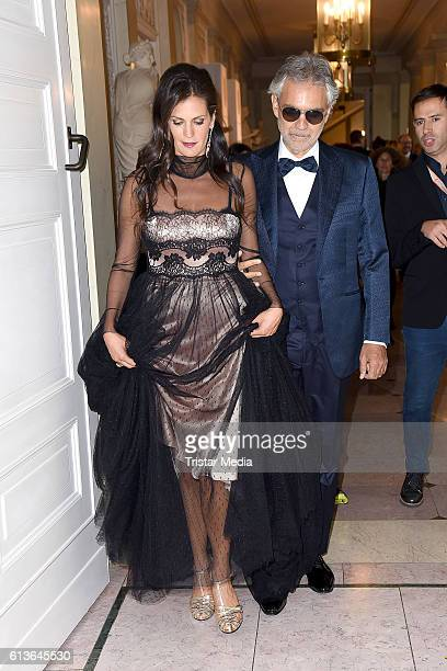 Opera singer Andrea Bocelli and his wife Veronica Berti attend the Klassik Echo 2016 on October 9 2016 in Berlin Germany