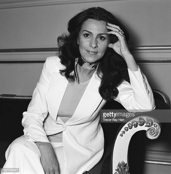 Opera Singer Angela Gheorghiu poses for a portrait shoot in London UK
