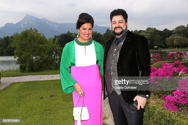 Opera singer Anna Netrebko and her husband Yusif Eyvazov during the ISA gala at Schloss Leopoldskron on July 27 2016 in Salzburg Austria