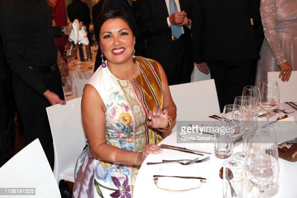 Opera singer Anna Netrebko at the Anna_Netrebko recital and charity dinner during the Munich Opera Festival 2019 at Nationaltheater on July 17 2019...