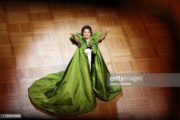 Opera singer Anna Netrebko perform during the Opera Ball Vienna at Vienna State Opera on February 28 2019 in Vienna Austria
