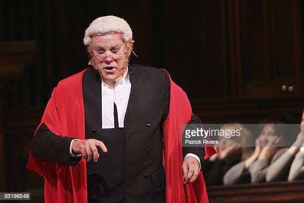 Opera singer Anthony Warlow performs during a dress rehearsal of Gilbert and Sullivan's Trial By Jury at the Opera House on July 05 2005 in Sydney...