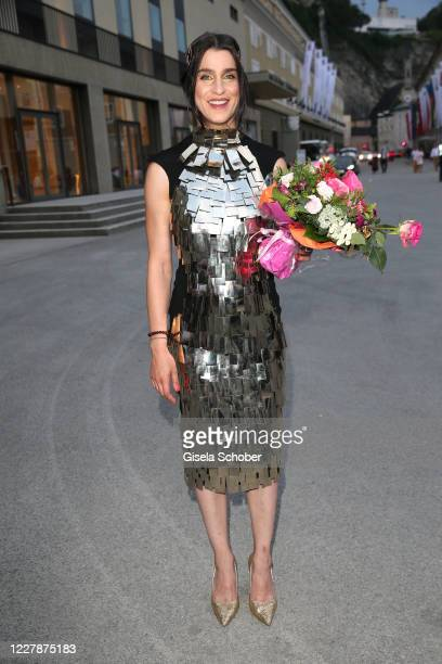 Opera singer Asmik Grigorian at the premiere of Elektra during the opening of the Salzburg Festival 2020 at Salzburg State Theatre on August 1 2020...