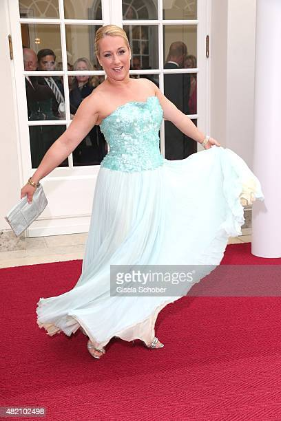 Opera singer Diana Damrau during the 'Die Goldene Deutschland' Gala on July 26 2015 at Cuvillies Theater in Munich Germany