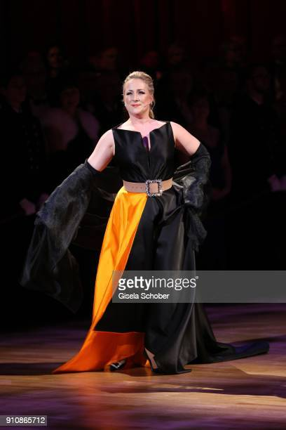 Opera singer Diana Damrau during the Semper Opera Ball 2018 at Semperoper on January 26 2018 in Dresden Germany