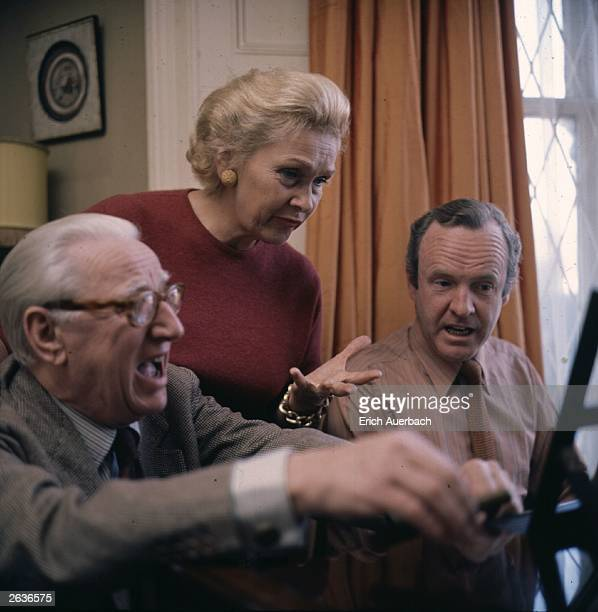 Opera singer Elisabeth Schwarzkopf with her husband record producer Walter Legge and Geoffrey Parsons