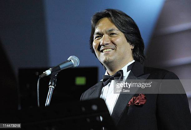 Opera singer John Ken Nuzzo performs at the 'Jammin' for Japan' charity event for victims of the earthquake and tsunami at the Tokyo American Club on...
