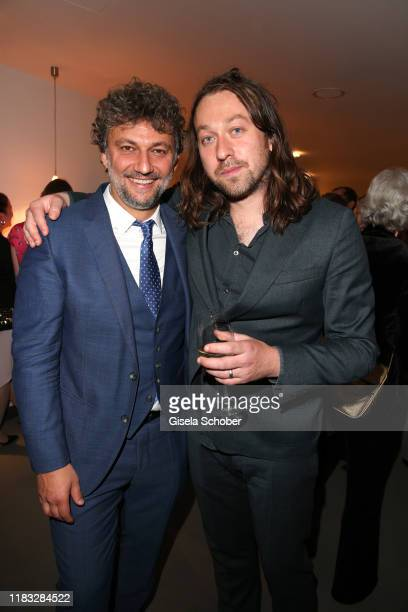 Opera singer Jonas Kaufmann and Director Simon Stone at the opera premiere of Die tote Stadt by Erich Wolfgang Korngold at Bayerische Staatsoper on...