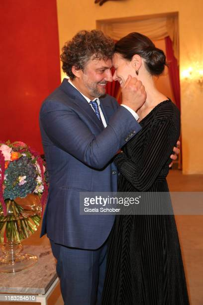 Opera singer Jonas Kaufmann and his wife Christiane Lutz at the opera premiere of Die tote Stadt by Erich Wolfgang Korngold at Bayerische Staatsoper...