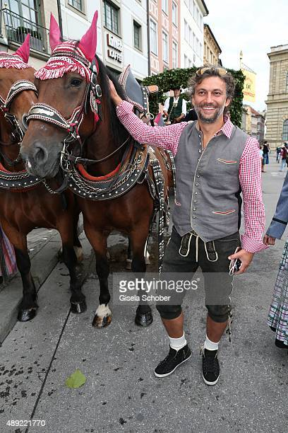 Opera Singer Jonas Kaufmann during the 'Fruehstueck bei Tiffany' at Tiffany Store ahead of the Oktoberfest 2015 on September 19, 2015 in Munich,...