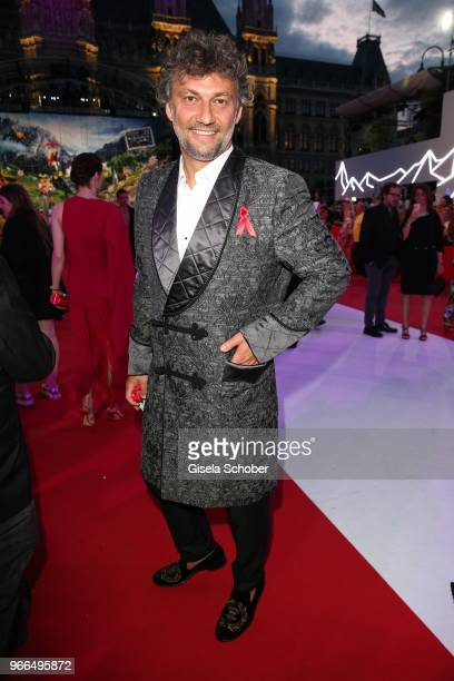 Opera singer Jonas Kaufmann during the Life Ball 2018 at City Hall on June 2 2018 in Vienna Austria The Life Ball an annual charity event raising...