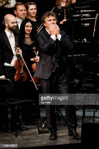 Opera singer Jonas Kaufmann live on stage during the Thurn Taxis Castle Festival 2019 on July 18 2019 in Regensburg Germany