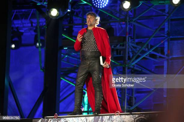 Opera singer Jonas Kaufmann on stage during the Life Ball 2018 show at City Hall on June 2 2018 in Vienna Austria The Life Ball an annual charity...