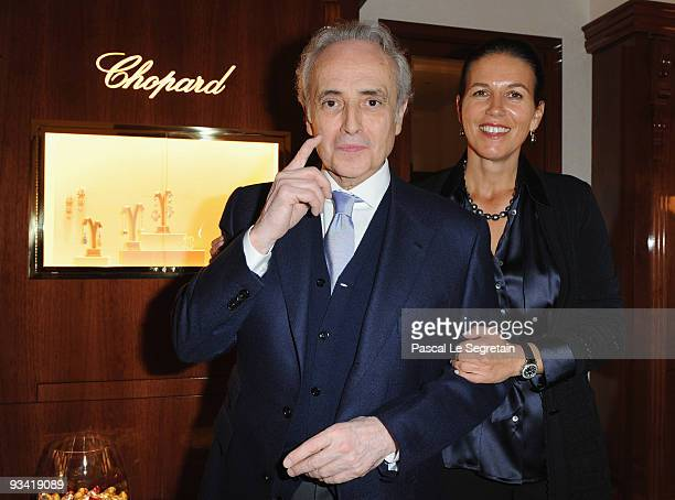 Opera Singer Jose Carreras and wife Jutta Jager attend Chopard Flagship Boutique Launch in Hotel La Mamounia at Hotel La Mamounia on November 25 2009...