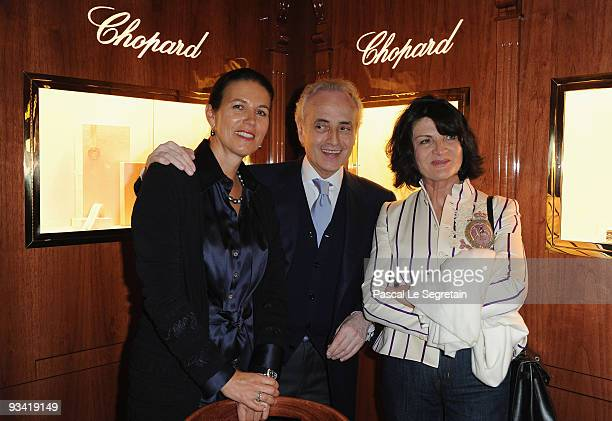 Opera Singer Jose Carreras his wife Jutta Jager and guest attend Chopard Flagship Boutique Launch in Hotel La Mamounia at Hotel La Mamounia on...