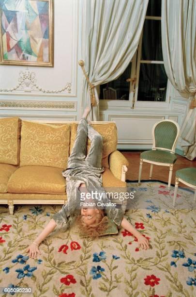 Opera singer June Anderson at the Hotel de Crillon located at Place de La Concorde in Paris