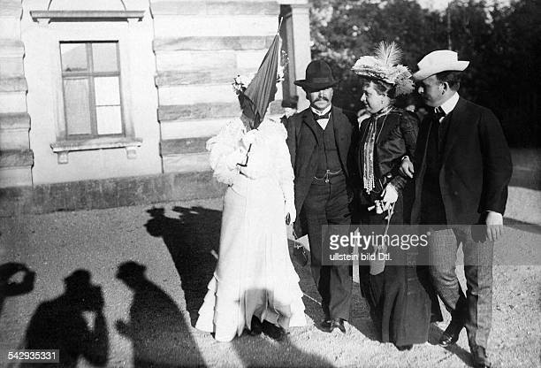 Opera singer Katharina Fleischer-Edel with others at the Bayreuth Festival