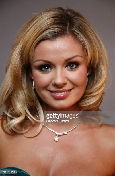Opera singer Katherine Jenkins attends the Montblanc Night Of The Stars gala February 2 2007 in Chamonix France
