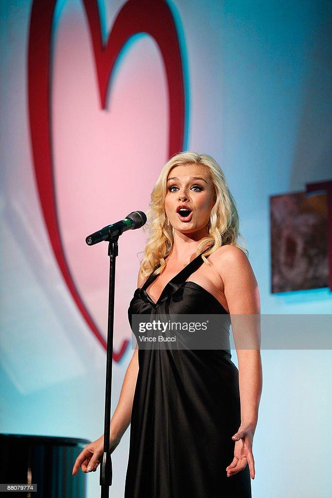 Opera singer Katherine Jenkins performs at the Cedars-Sinai