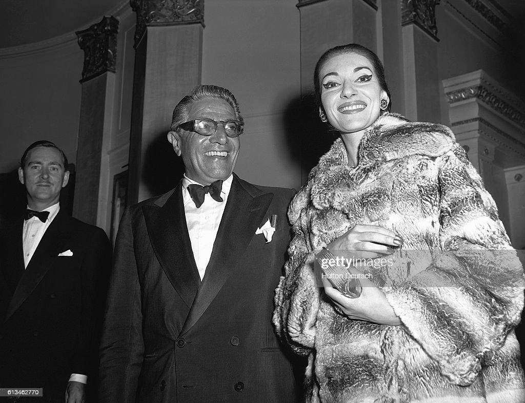 Maria Callas with Aristotle Onassis : News Photo