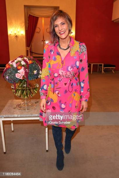 Opera singer Marlis Petersen at the opera premiere of Die tote Stadt by Erich Wolfgang Korngold at Bayerische Staatsoper on November 18 2019 in...
