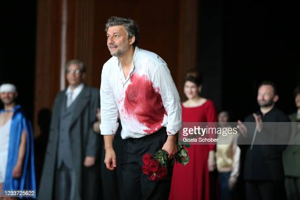 """Opera singer Opera singer Jonas Kaufmann after the premiere of """"Tristan und Isolde"""" as part of the Munich Opera Festival 2021 at Nationaltheater on..."""