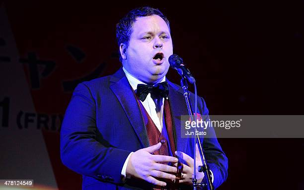 Opera singer Paul Pott attends One Chance Premier at the Gloria Chapel on March 12 2014 in Tokyo Japan