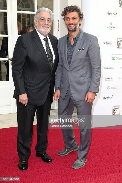 Opera singer Placido Domingo and Jonas Kaufmann during the 'Die Goldene Deutschland' Gala on July 26, 2015 at Cuvillies Theater in Munich, Germany.