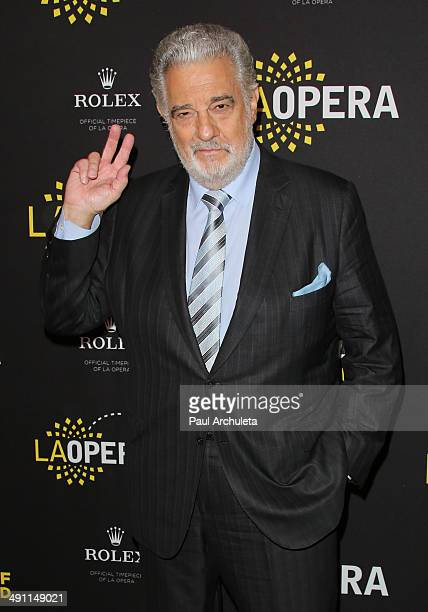Opera Singer Placido Domingo attends a Q&A with the media at the Dorothy Chandler Pavilion on May 15, 2014 in Los Angeles, California.
