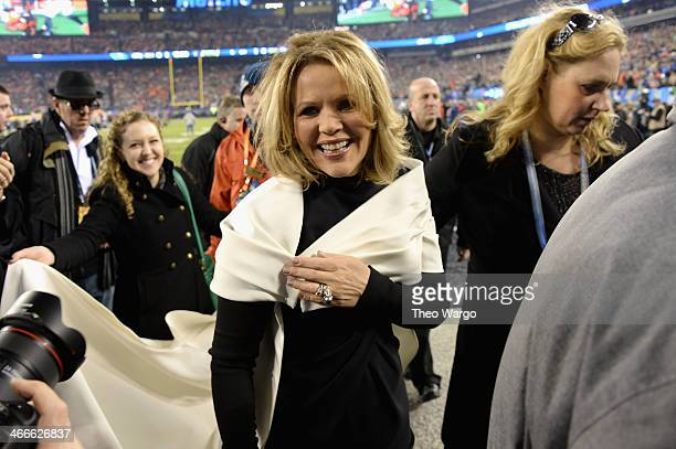 Opera singer Renee Fleming attends the Pepsi Super Bowl XLVIII Pregame Show at MetLife Stadium on February 2 2014 in East Rutherford New Jersey