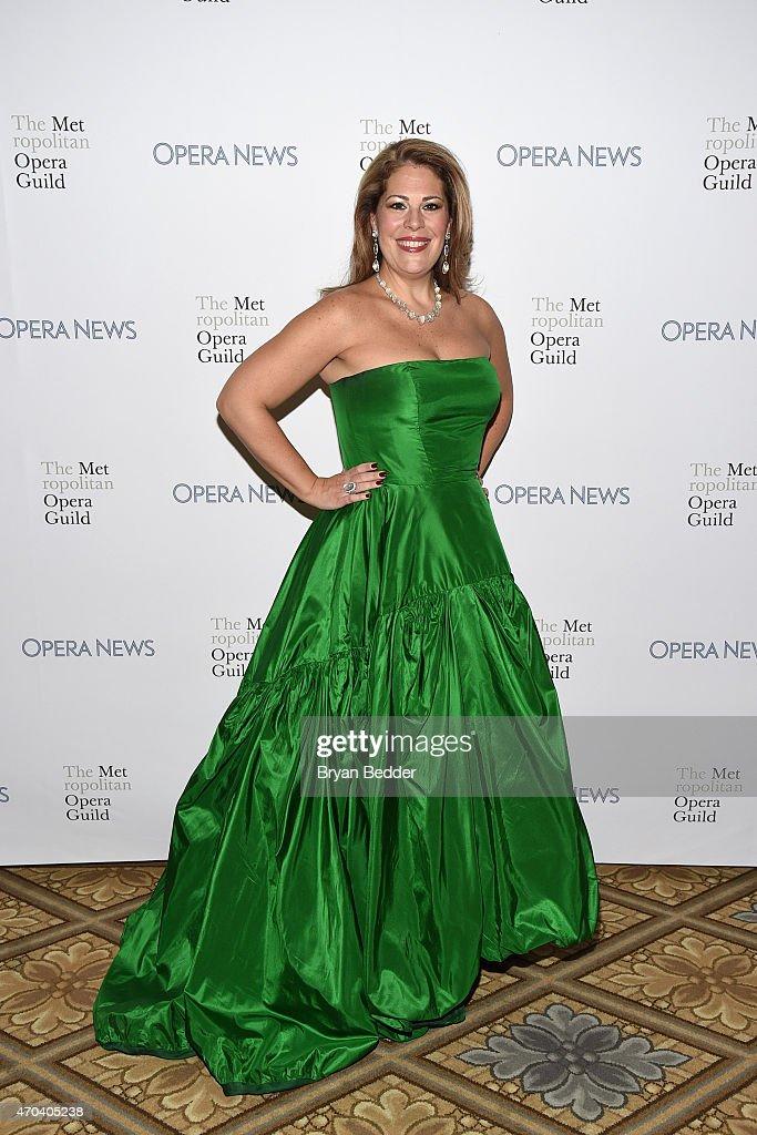 Opera singer Sondra Radvanovsky attends 10th Annual Opera News Awards at The Plaza Hotel on April 19, 2015 in New York City.
