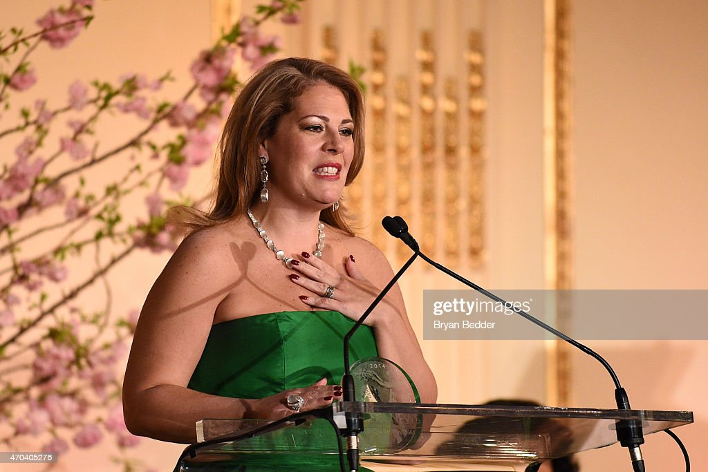 Opera singer Sondra Radvanovsky speaks onstage at the 10th Annual Opera News Awards at The Plaza Hotel on April 19, 2015 in New York City.