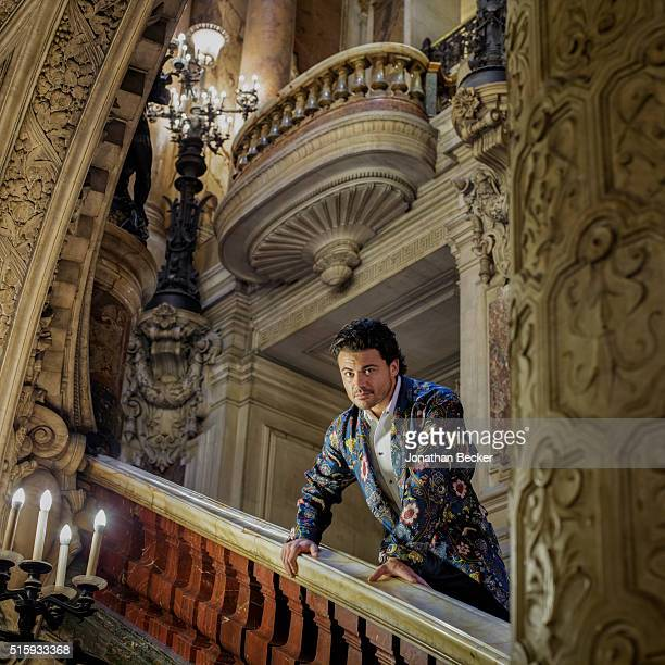 Opera singer Vittorio Grigolo is photographed for Vanity Fair Magazine on October 4 2013 at the Palais Garnier in Paris France PUBLISHED IMAGE
