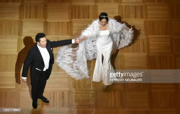 Opera Singers Piotr Beczala and Aida Garifullina perform during the annual Opera Ball in Vienna Austria on February 20 2020 / Austria OUT