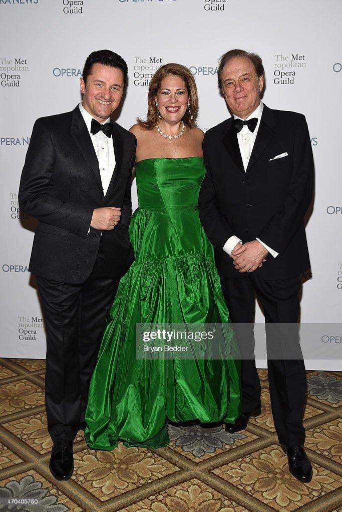 Opera Singers Piotr Beczala, Sondra Radvanovsky and Ferruccio Furlanetto attend the 10th Annual Opera News Awards at The Plaza Hotel on April 19, 2015 in New York City.