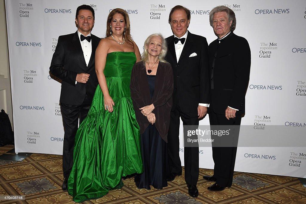 Opera Singers Piotr Beczala, Sondra Radvanovsky, Teresa Stratas, Ferruccio Furlanetto and Samuel Ramey attend the 10th Annual Opera News Awards at The Plaza Hotel on April 19, 2015 in New York City.