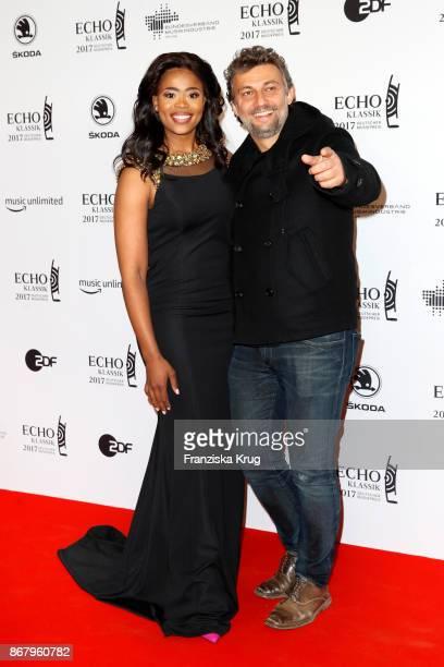 Opera singers Pretty Yende and Jonas Kaufmann attend the ECHO Klassik 2017 at Elbphilharmonie on October 29 2017 in Hamburg Germany