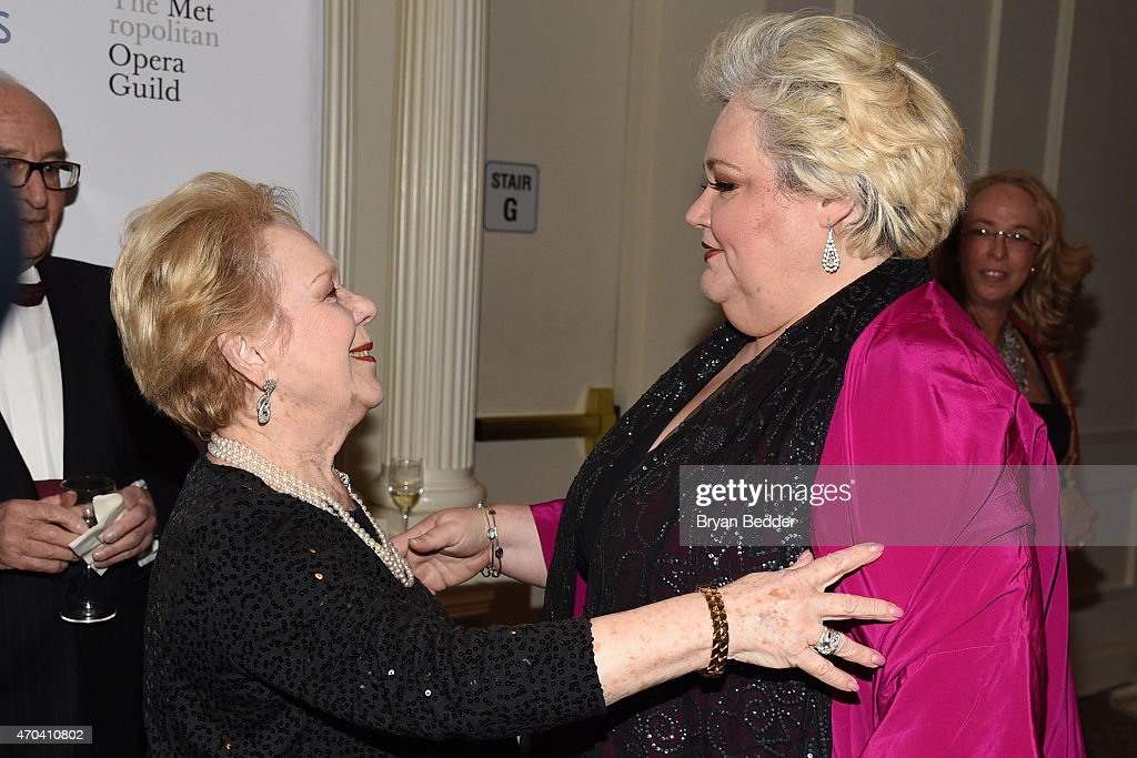 Opera singers Renata Scotto and Stephanie Blythe attend the 10th Annual Opera News Awards at The Plaza Hotel on April 19, 2015 in New York City.