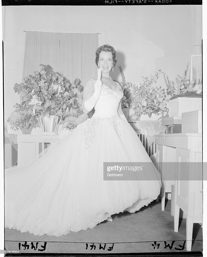 Lily Pons Wearing Gown Pictures | Getty Images