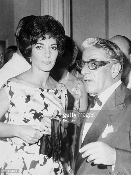 Opera star Maria Callas and Greek shipping owner Aristotle Onassis spends a night out at the International Sporting Club here The same night they...