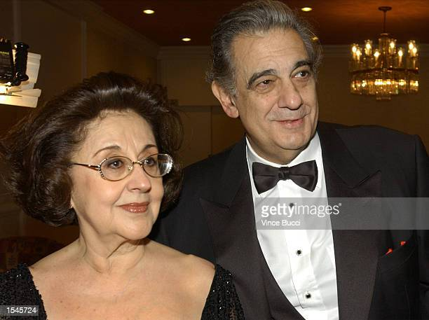 Opera star Placido Domingo wife Marta attend the 11th Annual Ella Award May 30 2002 in Beverly Hills CA Domingo received the Ella Award named in...
