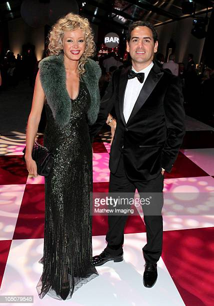 Opera tenor Juan Diego Flórez dances with wife Julia Trappe at the Los Angeles Philharmonic Opening Night Gala at the Walt Disney Concert Hall on...