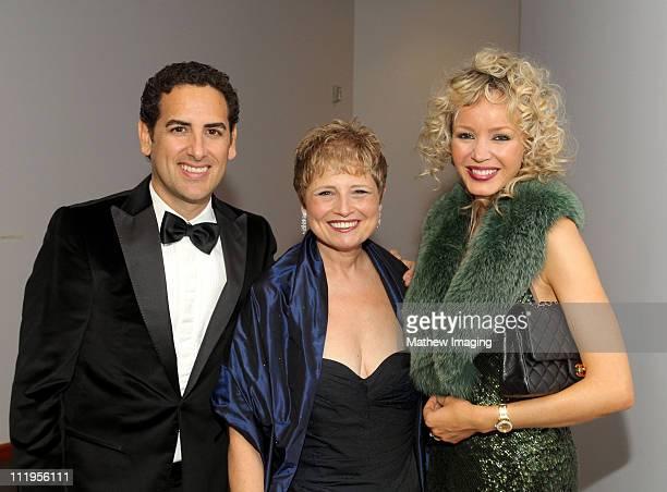 Opera tenor Juan Diego Flórez President and CEO of the Los Angeles Philharmonic Deborah Borda and Julia Trappe attend the Los Angeles Philharmonic...